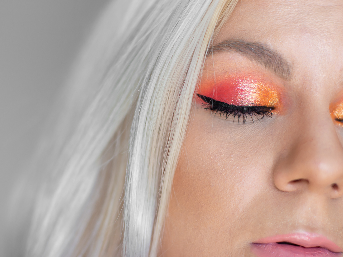 huda beauty neon orange paletka líčení