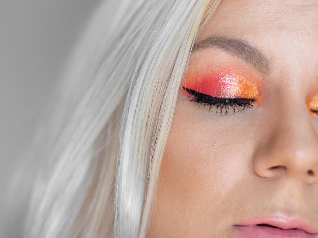 huda beauty neon orange paletka líčení