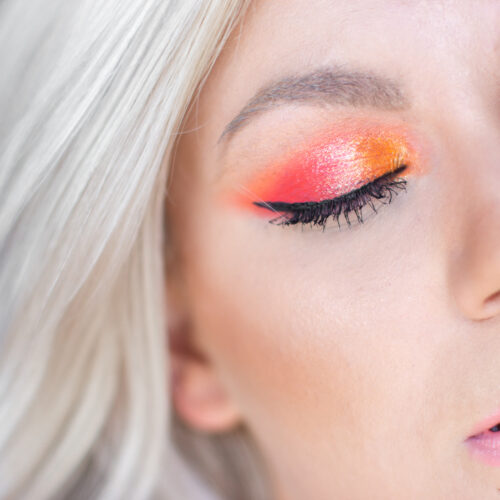 huda paletka neon orange líčení